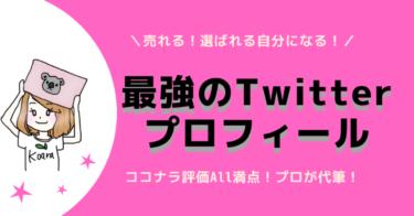 【先着5名限定】強みを引き出すTwitterプロフィール作成サービス!