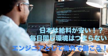 ソフトウェアエンジニアとして海外で働こう!