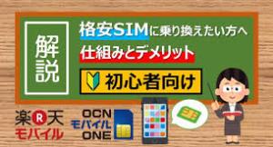 【初心者向け】格安simへの超簡潔な乗り換えの方法!!
