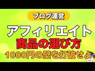 アフィリエイト商品の選び方講座!成功を左右する1000円の壁