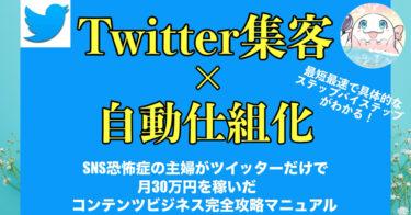 『SNS恐怖症の専業主婦がTwitter集客×自動仕組化で15リストで33万円を達成した初心者脱却コンテンツビジネス完全攻略マニュアル〜』